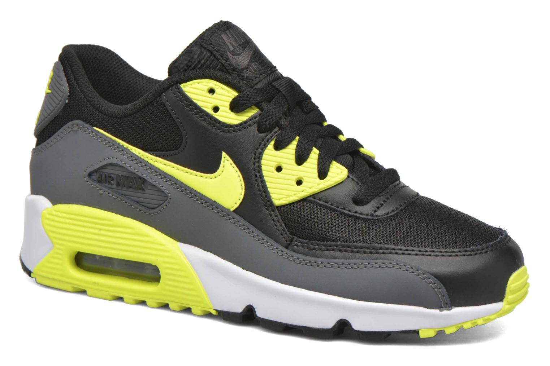 Trainers Nike NIKE AIR MAX 90 MESH (GS) Black detailed view/ Pair view