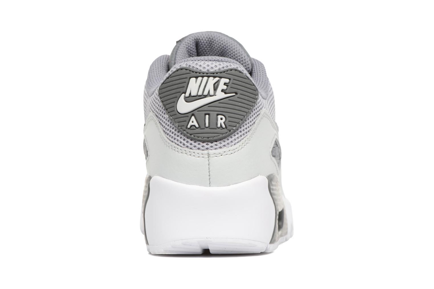 Trainers Nike NIKE AIR MAX 90 MESH (GS) Grey view from the right