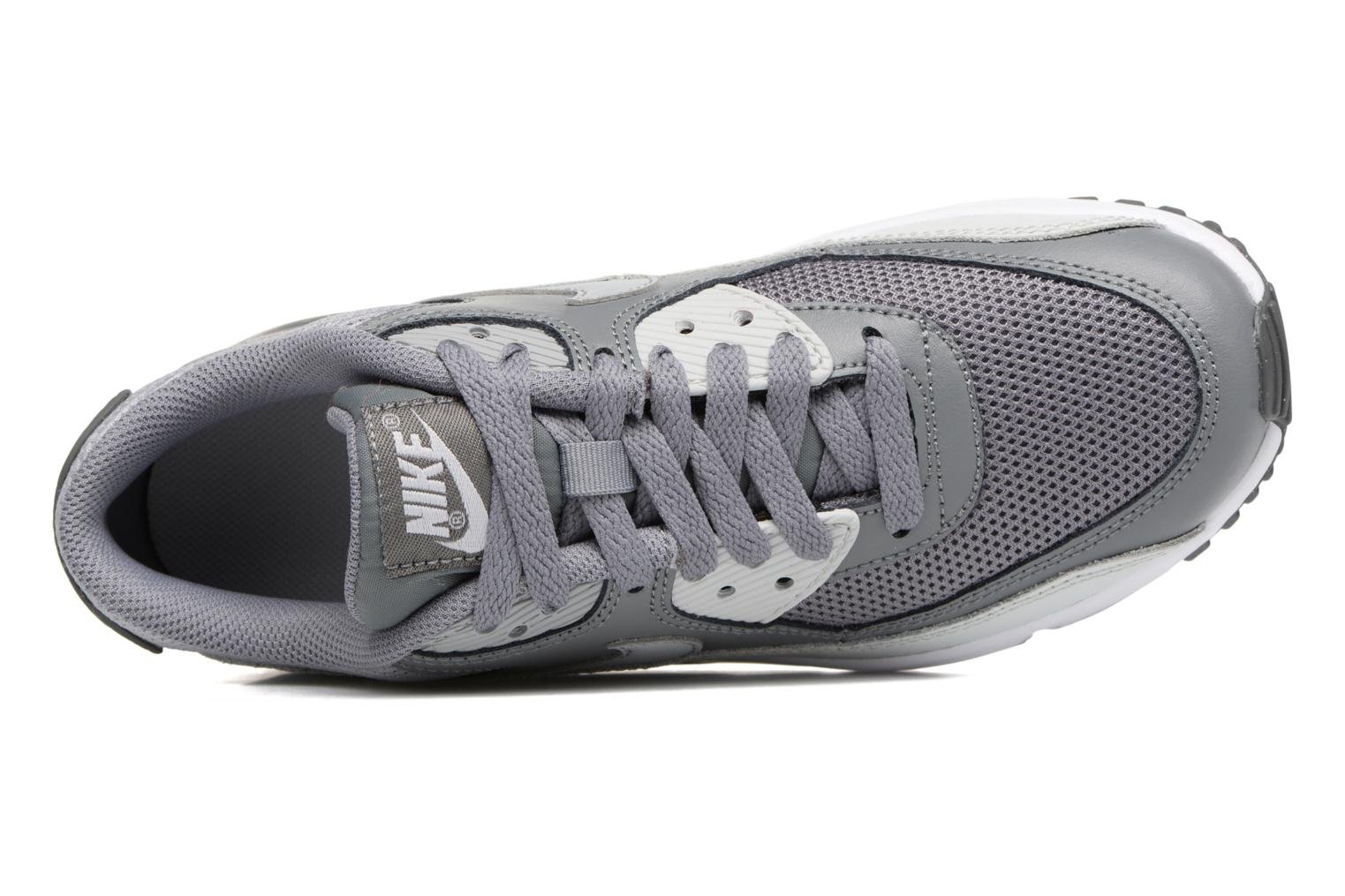 Trainers Nike NIKE AIR MAX 90 MESH (GS) Grey view from the left