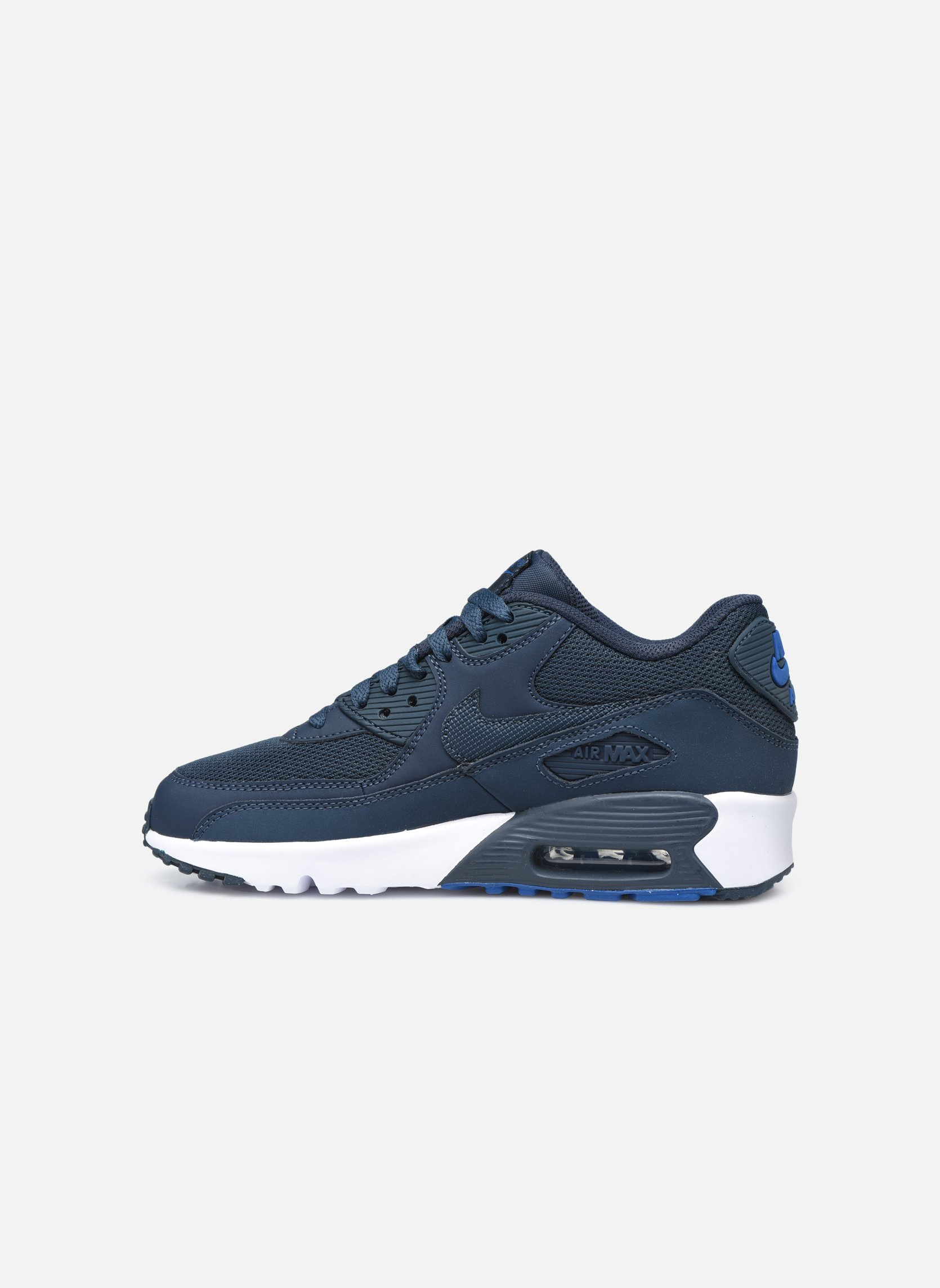 Baskets Nike NIKE AIR MAX 90 MESH (GS) Bleu vue face