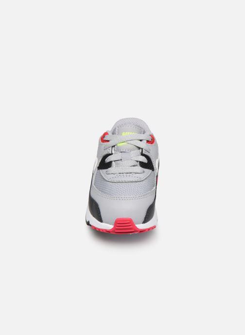 Sneakers Nike NIKE AIR MAX 90 MESH (TD) Grigio modello indossato