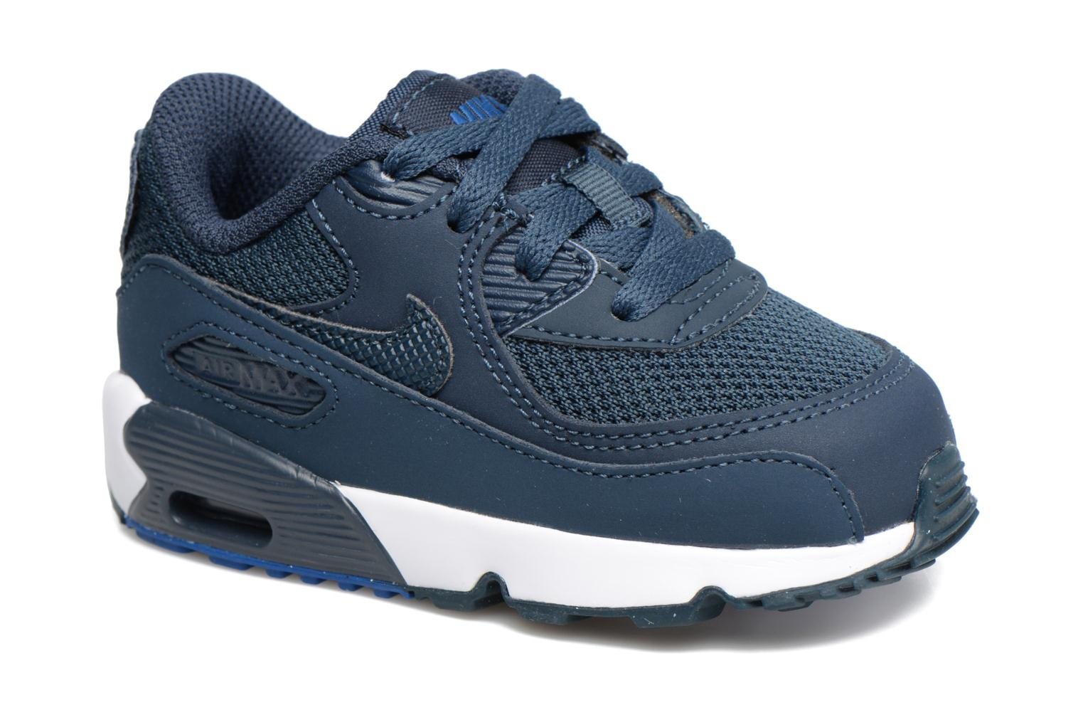 Trainers Nike NIKE AIR MAX 90 MESH (TD) Blue detailed view/ Pair view