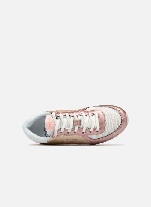 Baskets Pepe jeans Sydney Or et bronze vue gauche