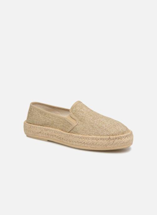 Espadrillos Rondinaud Kolyma Guld og bronze detaljeret billede af skoene