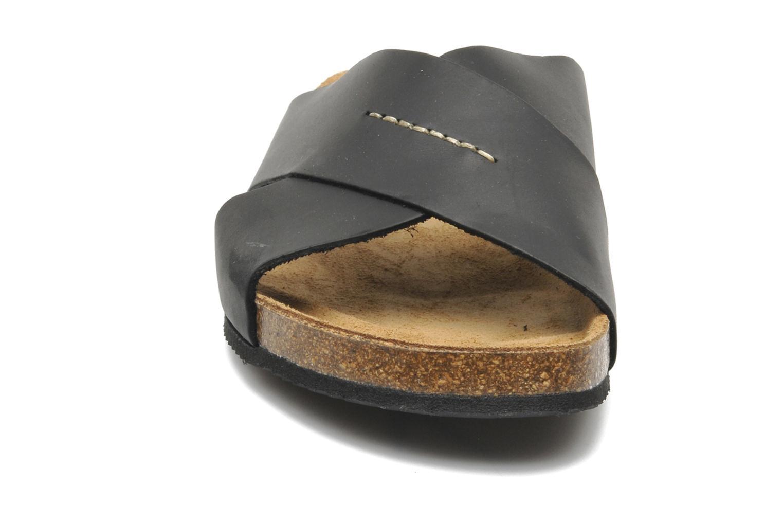 Sandales et nu-pieds Rondinaud Trèfle Noir vue portées chaussures