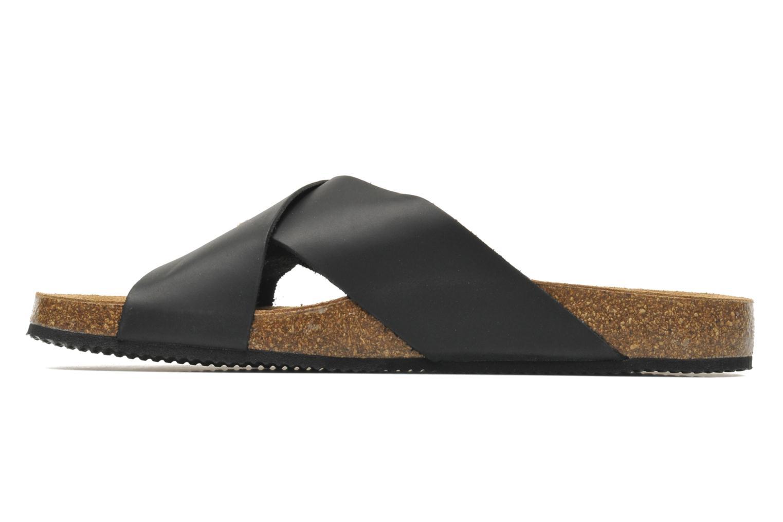 Sandales et nu-pieds Rondinaud Trèfle Noir vue face