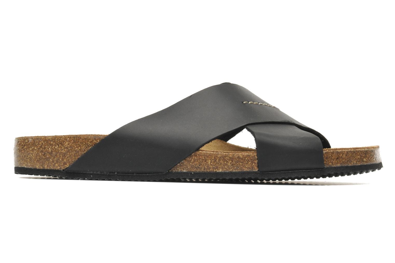 Sandales et nu-pieds Rondinaud Trèfle Noir vue derrière