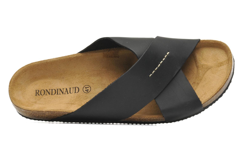 Sandales et nu-pieds Rondinaud Trèfle Noir vue gauche