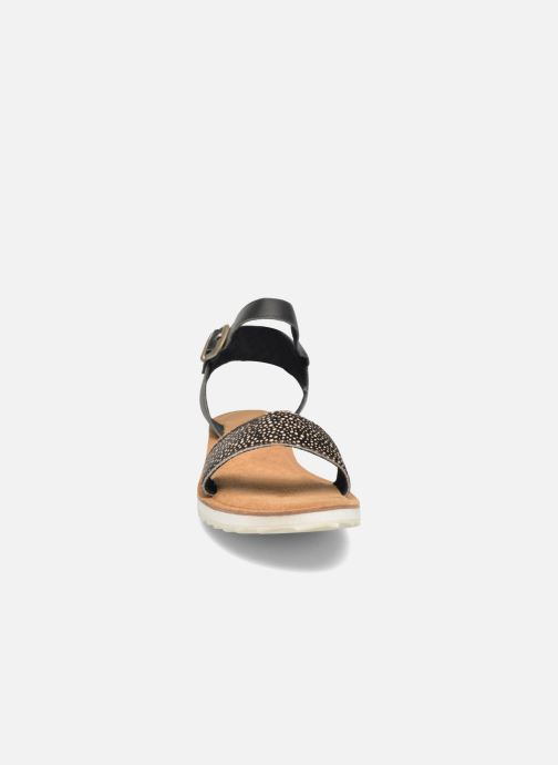 Sandales et nu-pieds Bronx Rubi Noir vue portées chaussures