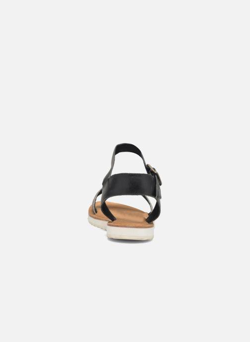 Sandales et nu-pieds Bronx Rubi Noir vue droite