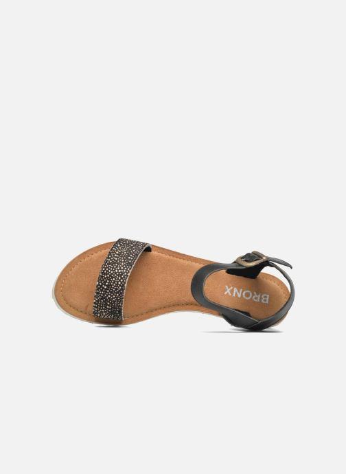 Sandales et nu-pieds Bronx Rubi Noir vue gauche