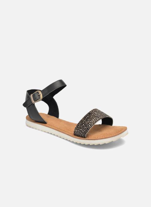 Sandaler Bronx Rubi Sort detaljeret billede af skoene