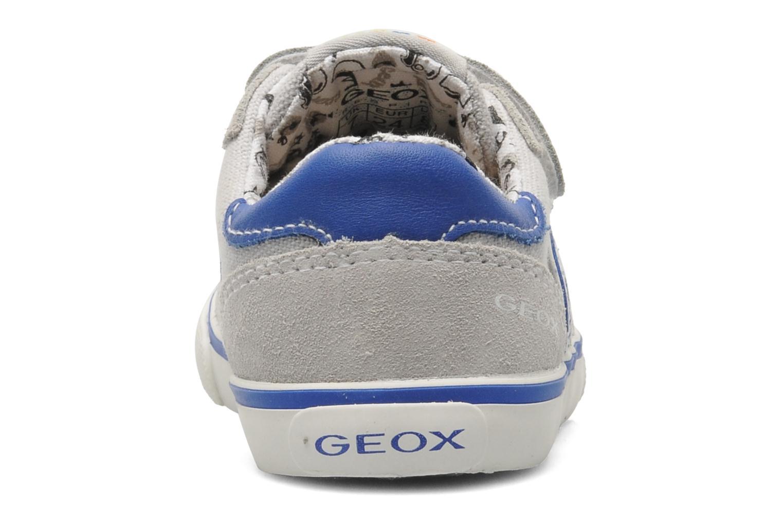 Baskets Geox B KIWI B. C - SCAM.+TELA Gris vue droite