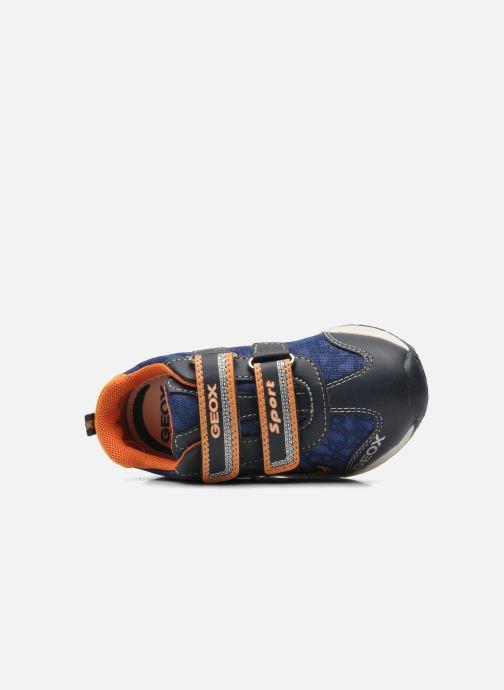 Sneakers Geox B TEPPEI B. C - MESH+DBK Azzurro immagine sinistra