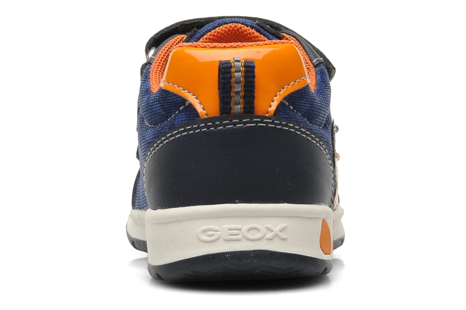 Trainers Geox B TEPPEI B. C - MESH+DBK Blue view from the right