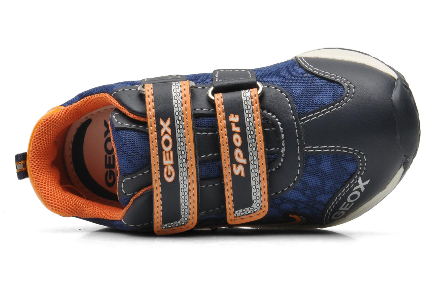 Trainers Geox B TEPPEI B. C - MESH+DBK Blue view from the left