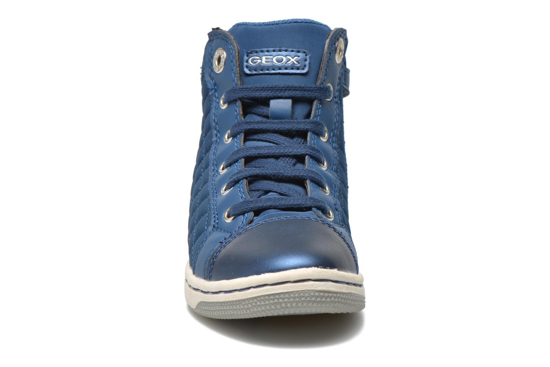 Sneakers Geox J CREAMY A - NYLON+VERN.SINT. Azzurro modello indossato