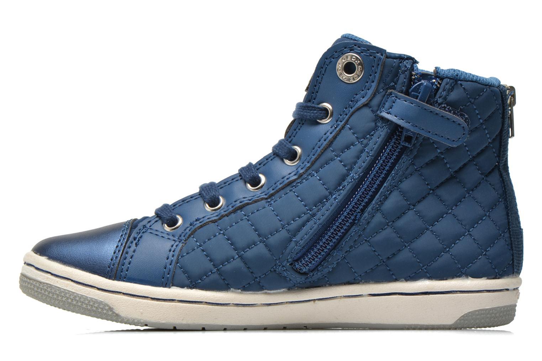 Sneakers Geox J CREAMY A - NYLON+VERN.SINT. Azzurro immagine frontale
