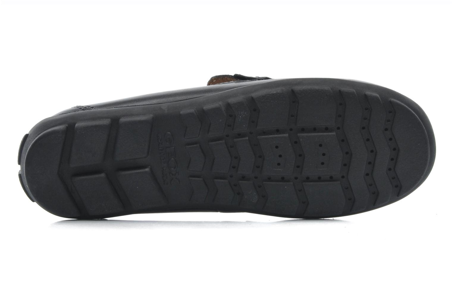 Loafers Geox J FAST A J11G5A Black view from above