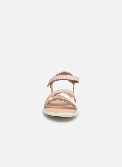Sandales et nu-pieds Geox J S.Karly G.D  J5235D Rose vue portées chaussures