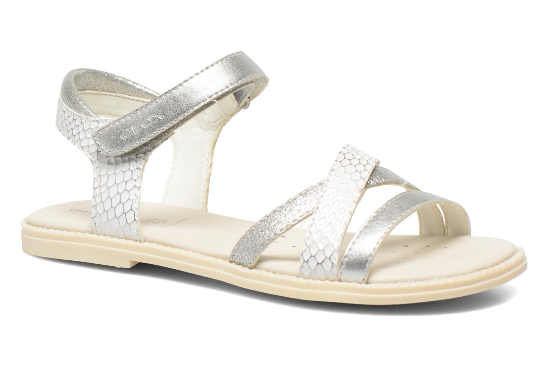 Sandales et nu-pieds Geox J S.Karly G.D  J5235D Blanc vue détail/paire