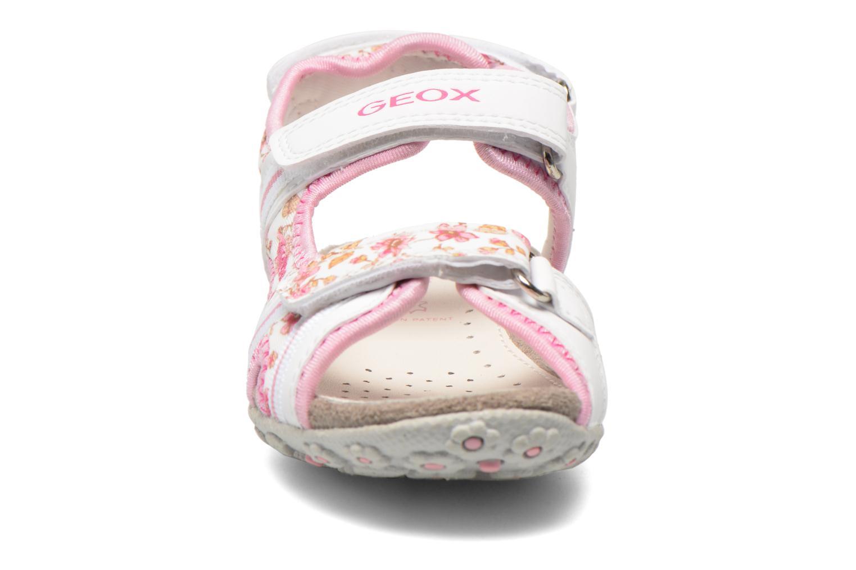 Sandales et nu-pieds Geox J S.Roxanne A J52D9A Blanc vue portées chaussures