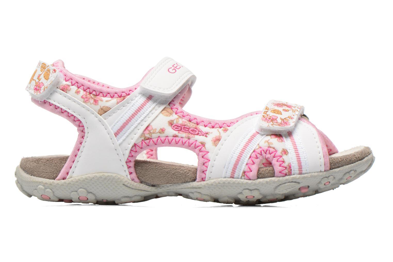 Sandales et nu-pieds Geox J S.Roxanne A J52D9A Blanc vue derrière