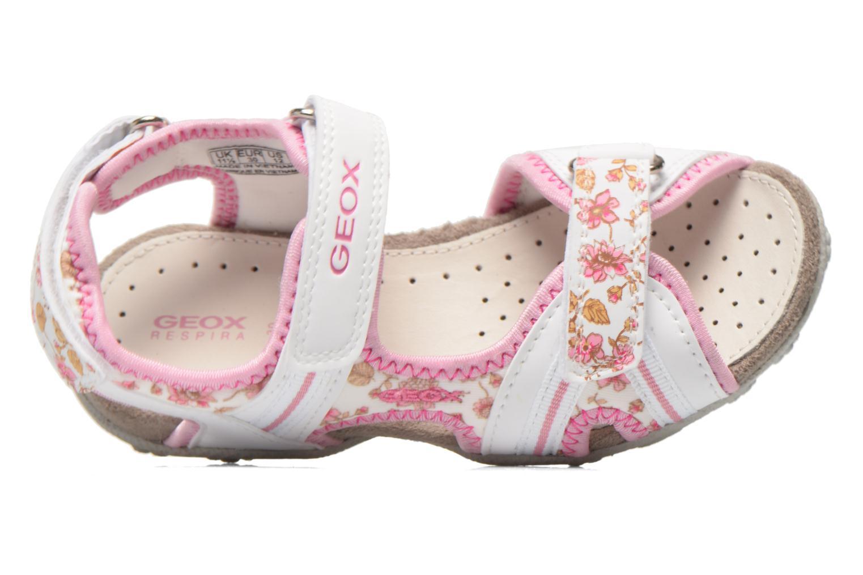 Sandales et nu-pieds Geox J S.Roxanne A J52D9A Blanc vue gauche