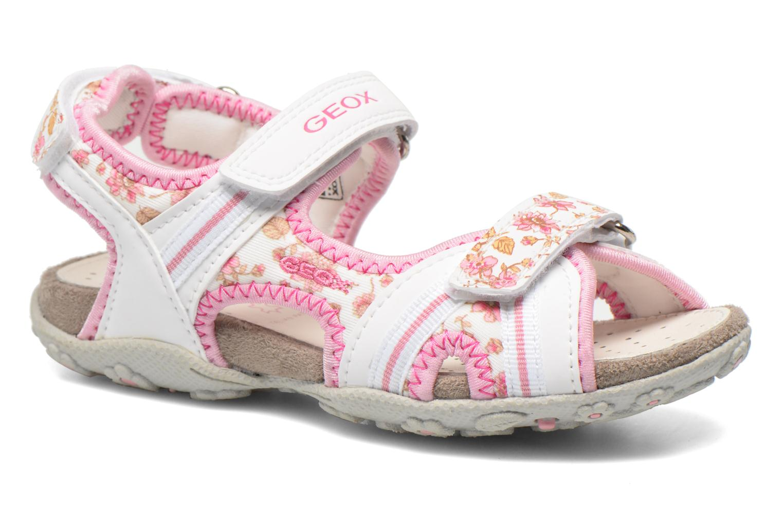 Sandales et nu-pieds Geox J S.Roxanne A J52D9A Blanc vue détail/paire