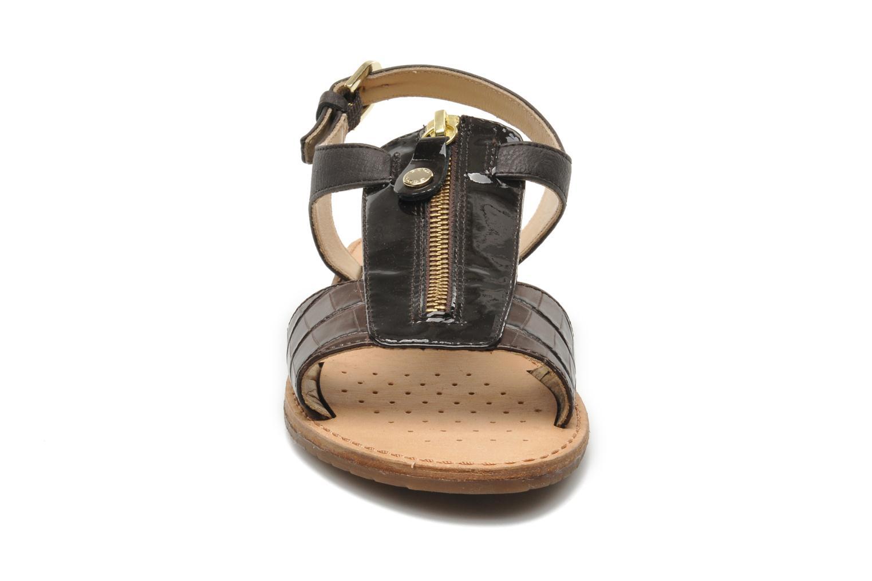 Sandales et nu-pieds Geox D JOLANDA K-D5275K Marron vue portées chaussures