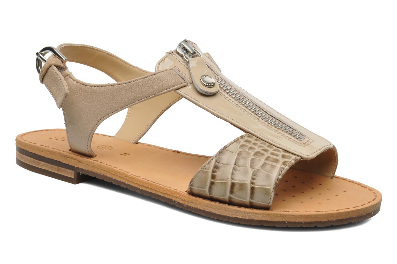 Sandaler Geox D JOLANDA K-D5275K Beige detaljeret billede af skoene
