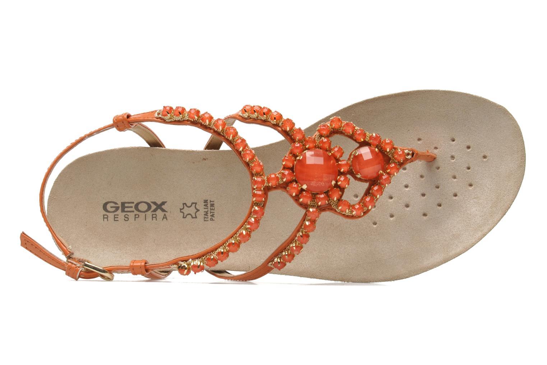 Sandales et nu-pieds Geox D VINCA F-D5297F Orange vue gauche