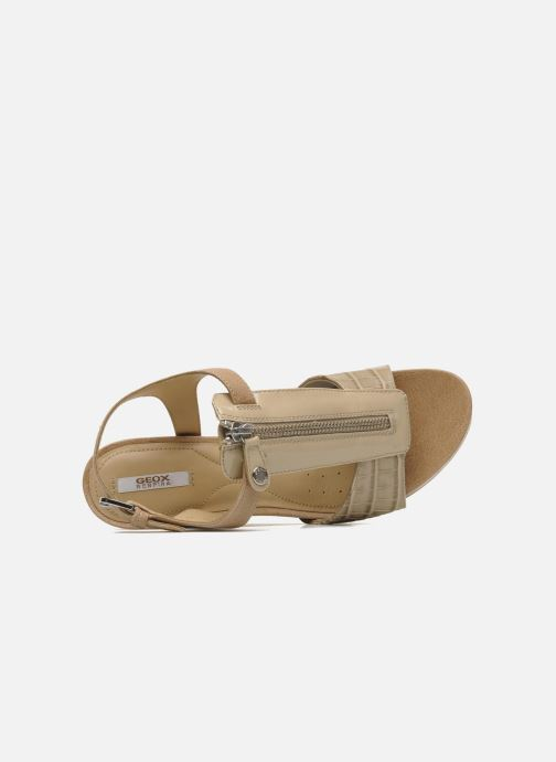 Sandali e scarpe aperte Geox D VICTORY F-D52P5F Beige immagine sinistra