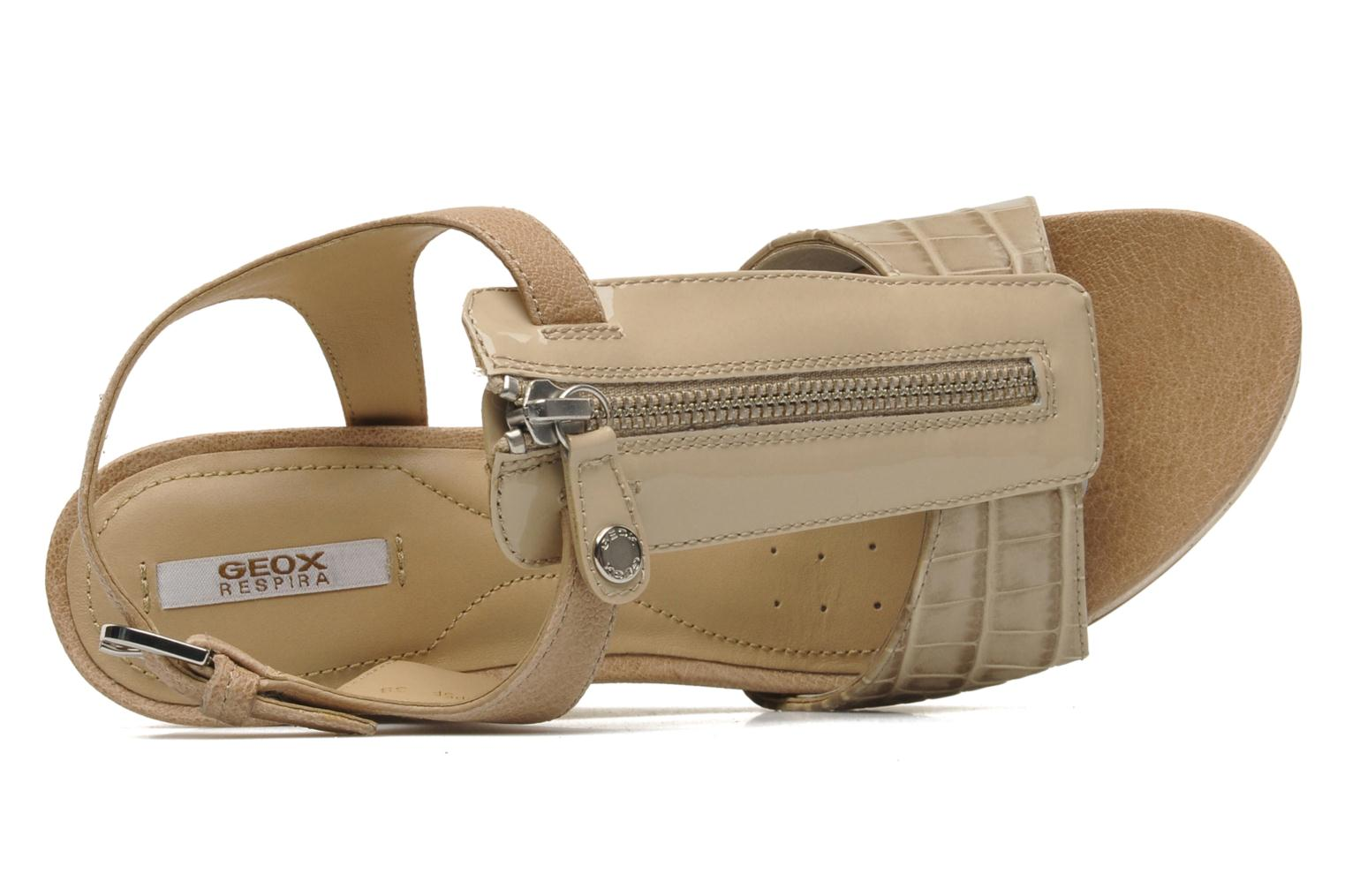 Sandals Geox D VICTORY F-D52P5F Beige view from the left