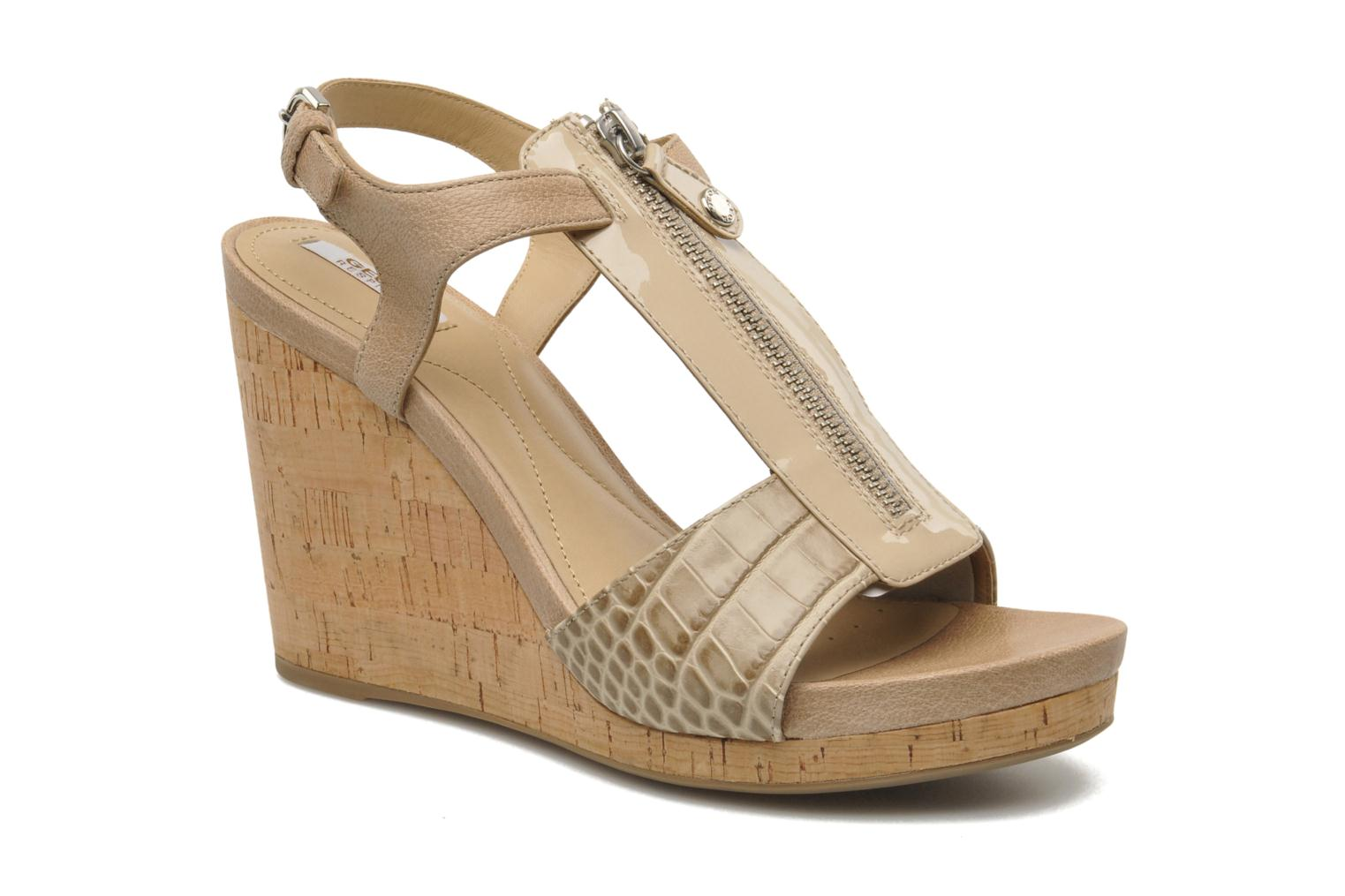 Sandals Geox D VICTORY F-D52P5F Beige detailed view/ Pair view