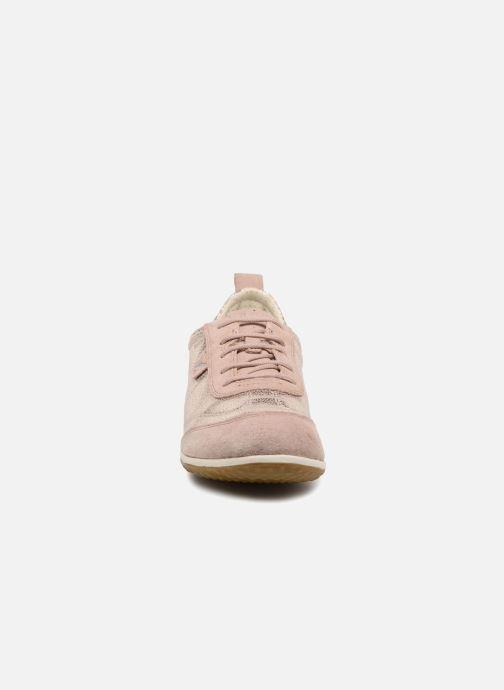 Baskets Geox D VEGA A D3209A Rose vue portées chaussures