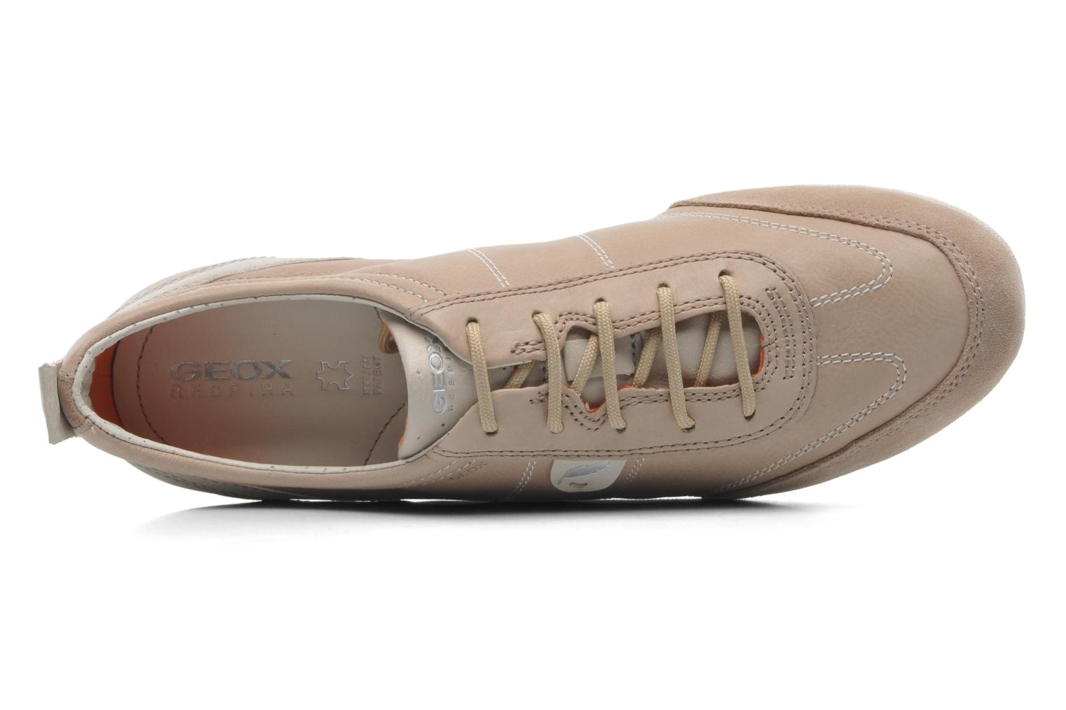 Trainers Geox D VEGA A D3209A Beige view from the left