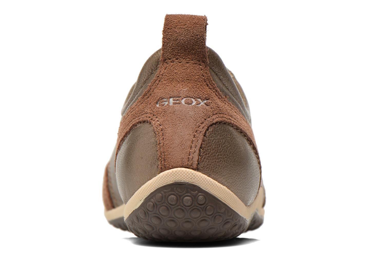 Baskets Geox D VEGA A D3209A Or et bronze vue droite