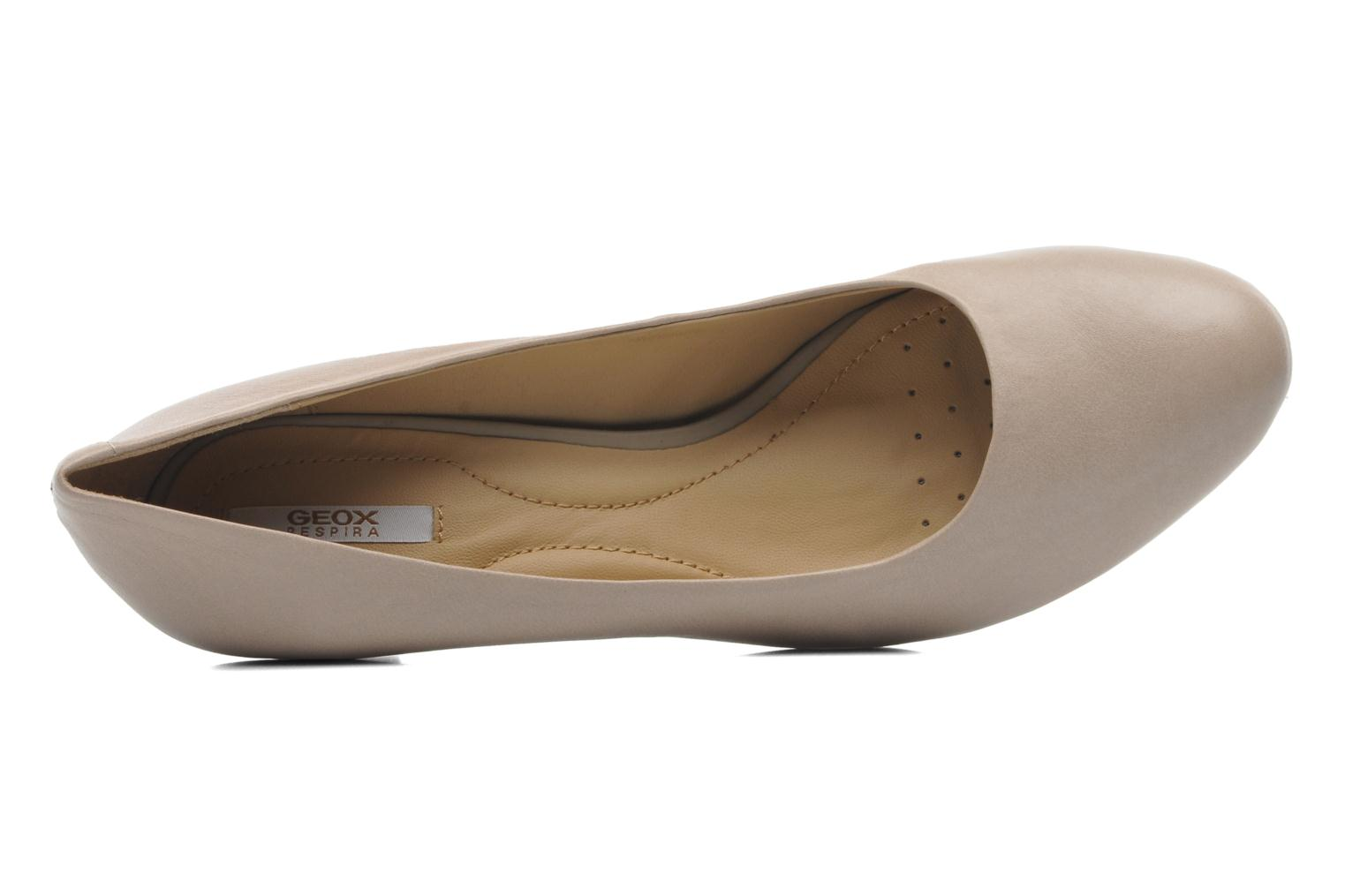 High heels Geox D MARIELE MID B D32T7B Beige view from the left