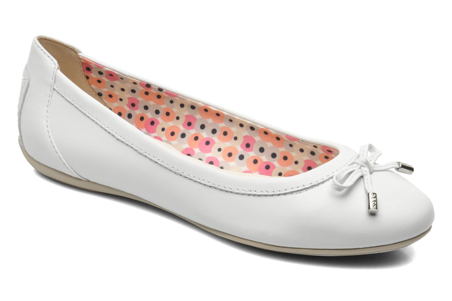 Ballet pumps Geox D CHARLENE A D32Y7A White detailed view/ Pair view