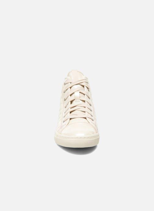 Baskets Geox D NEW CLUB A D4258A Blanc vue portées chaussures