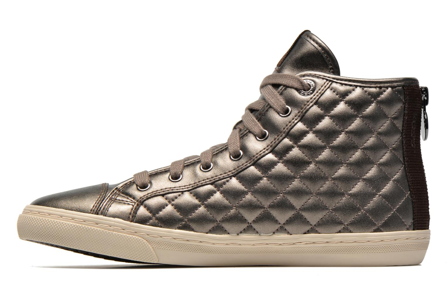 Sneakers Geox D NEW CLUB A D4258A Oro e bronzo immagine frontale