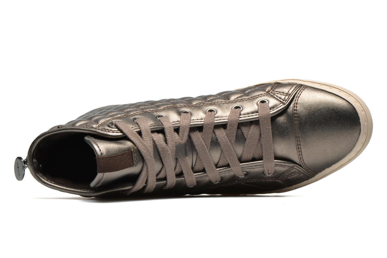 Sneakers Geox D NEW CLUB A D4258A Oro e bronzo immagine sinistra
