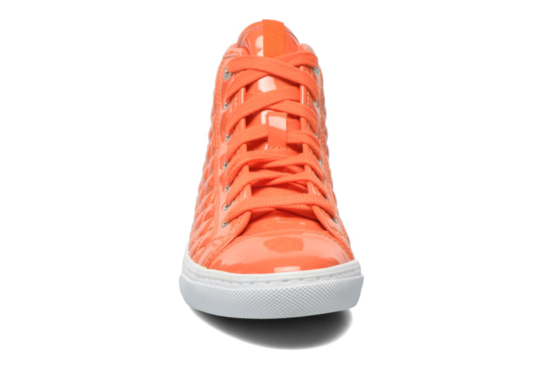 Baskets Geox D NEW CLUB A D4258A Orange vue portées chaussures