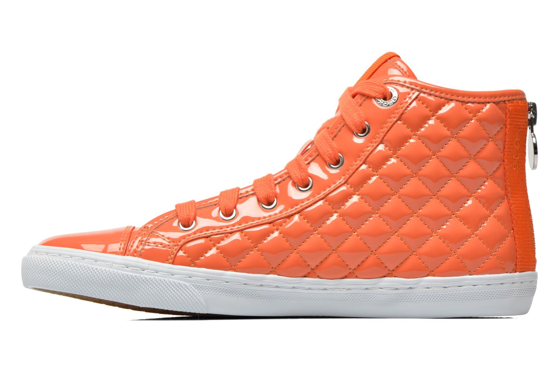 Baskets Geox D NEW CLUB A D4258A Orange vue face