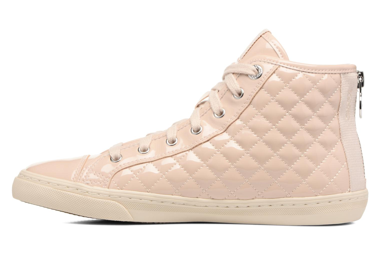 Sneakers Geox D NEW CLUB A D4258A Beige immagine frontale