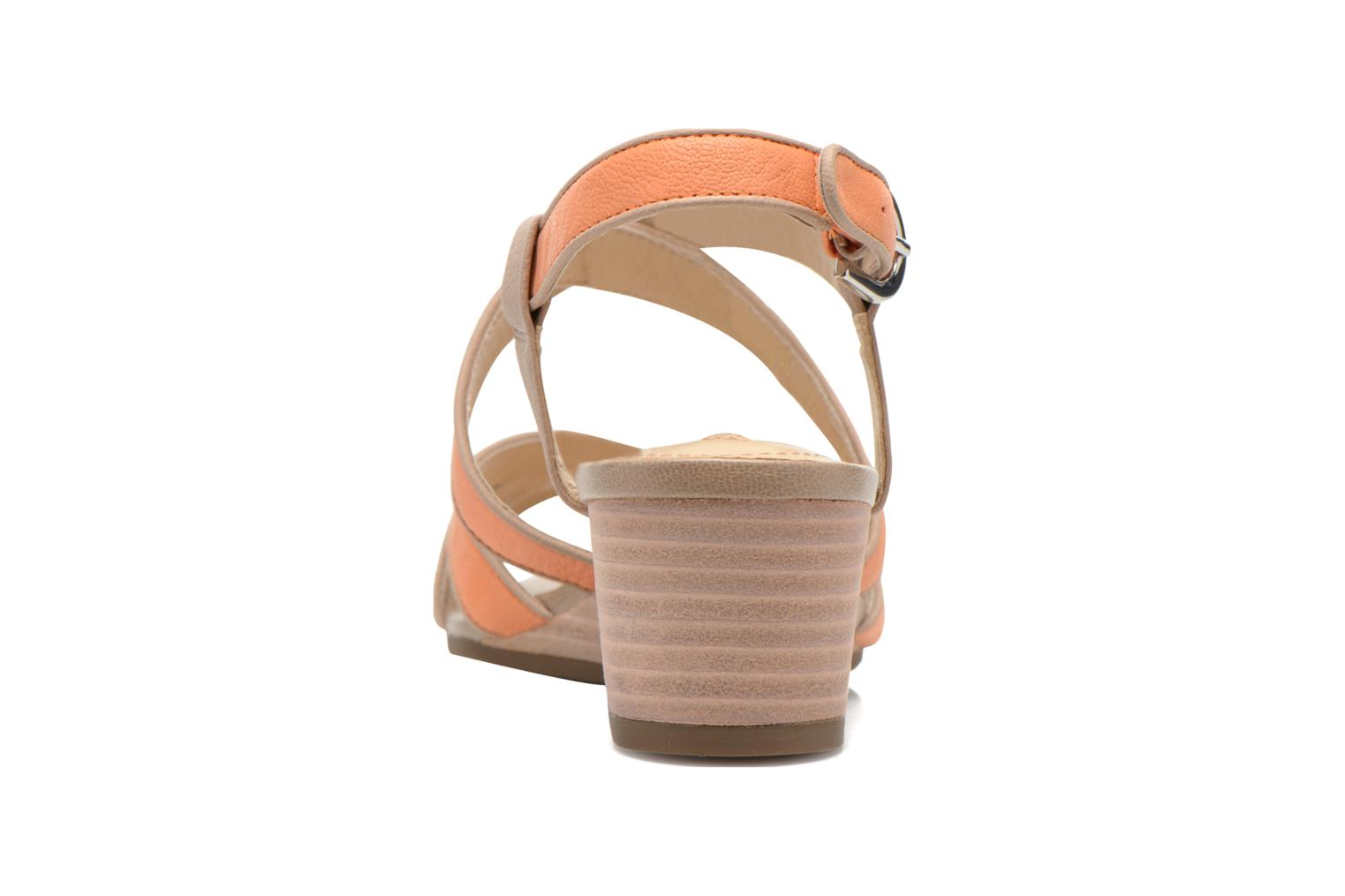 Sandals Geox D LUPE A D5283A Orange view from the right