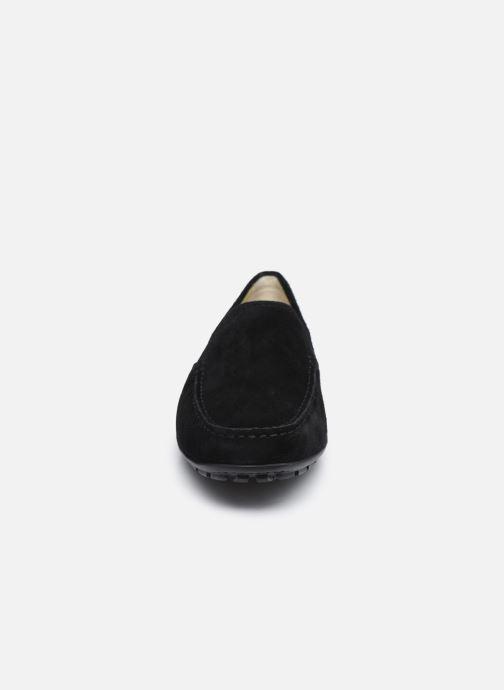 Slipper Geox U MONET V U1144V schwarz schuhe getragen