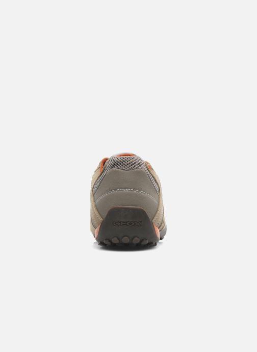 Baskets Geox U SNAKE K U4207K Beige vue droite