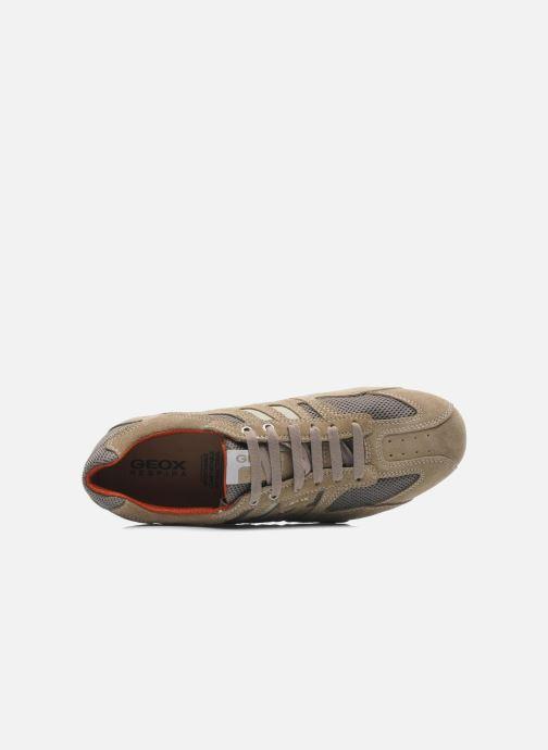 Baskets Geox U SNAKE K U4207K Beige vue gauche